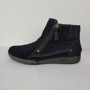 Arnold Churgin Black Suede Ankle Boots Size 7.5